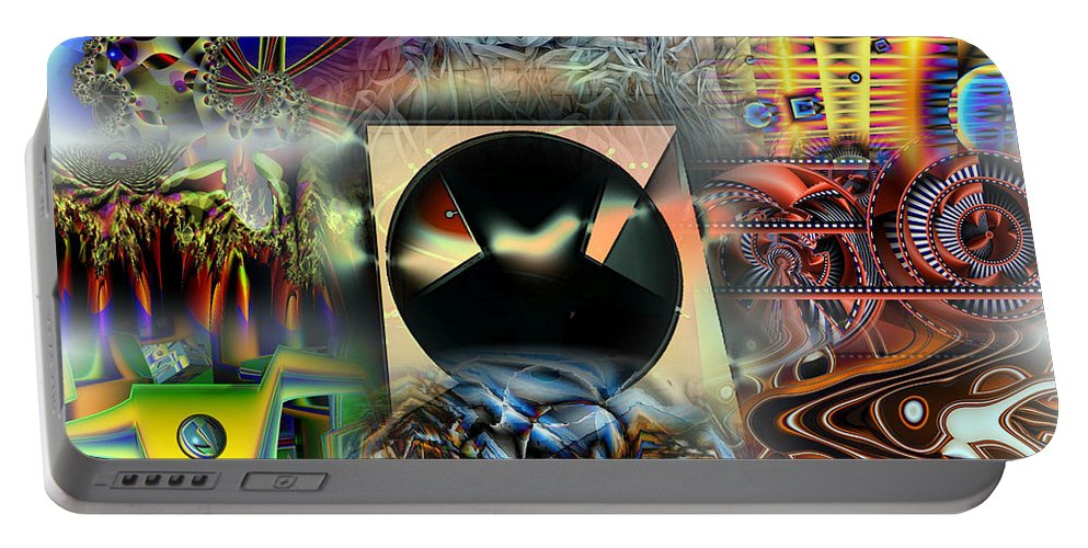 Collage Portable Battery Charger featuring the digital art Works Collage by Ron Bissett
