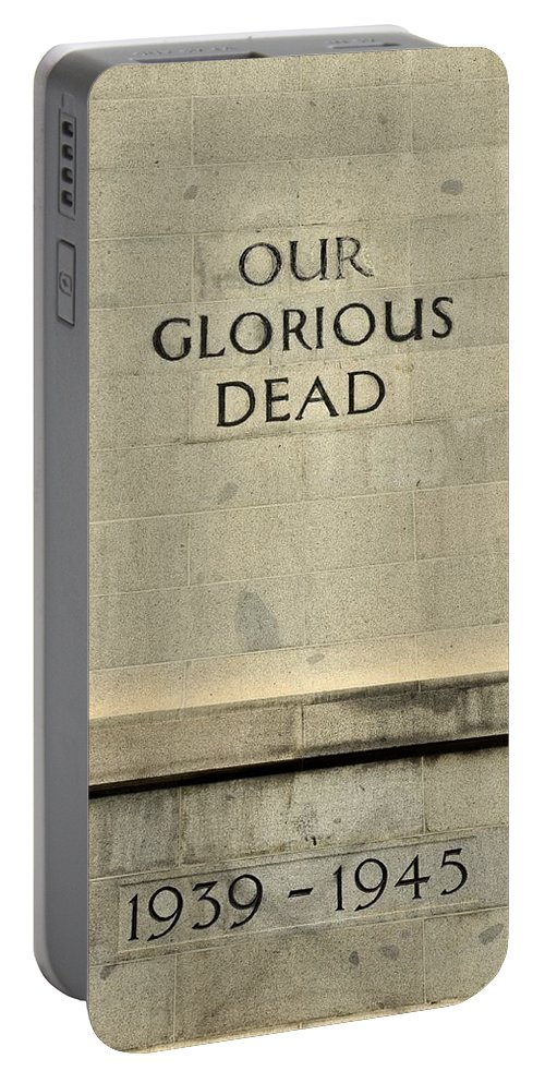 Singapore Portable Battery Charger featuring the photograph World War Two Our Glorious Dead Cenotaph by Imran Ahmed