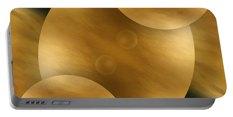 Abstract Portable Battery Charger featuring the photograph Worlds Collide 10 by Mike McGlothlen