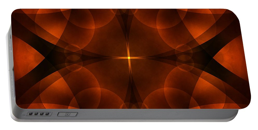 Abstract Portable Battery Charger featuring the photograph Worlds Collide 16 by Mike McGlothlen