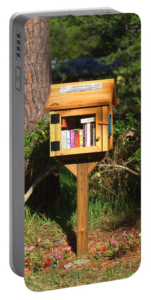 5691 Portable Battery Charger featuring the photograph World's Smallest Library by Gordon Elwell