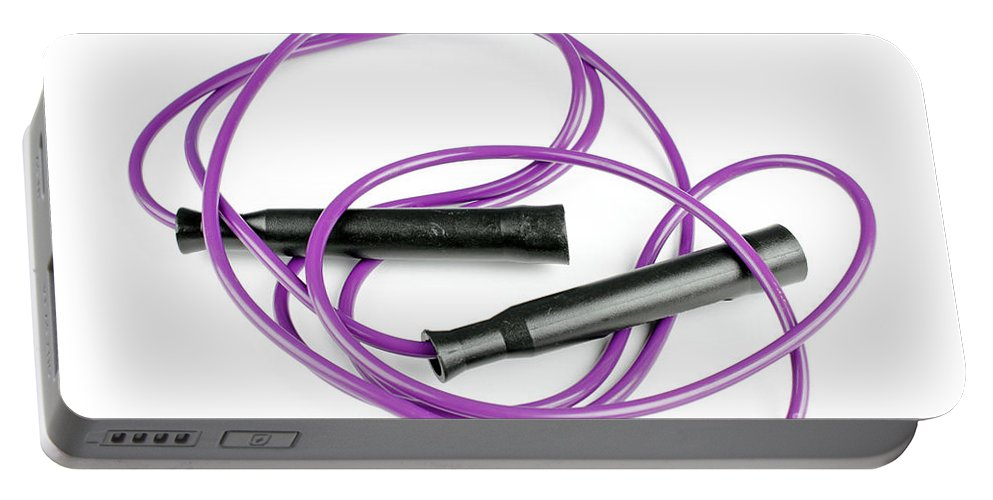 Jumprope Portable Battery Charger featuring the photograph Worn Jump Rope by Lee Serenethos