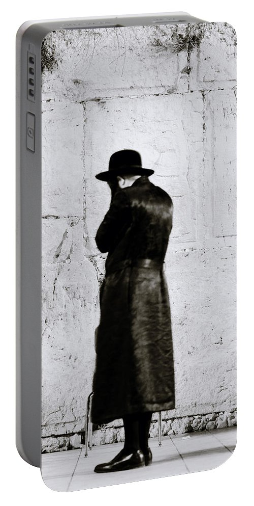 Jewish Portable Battery Charger featuring the photograph Worship by Shaun Higson