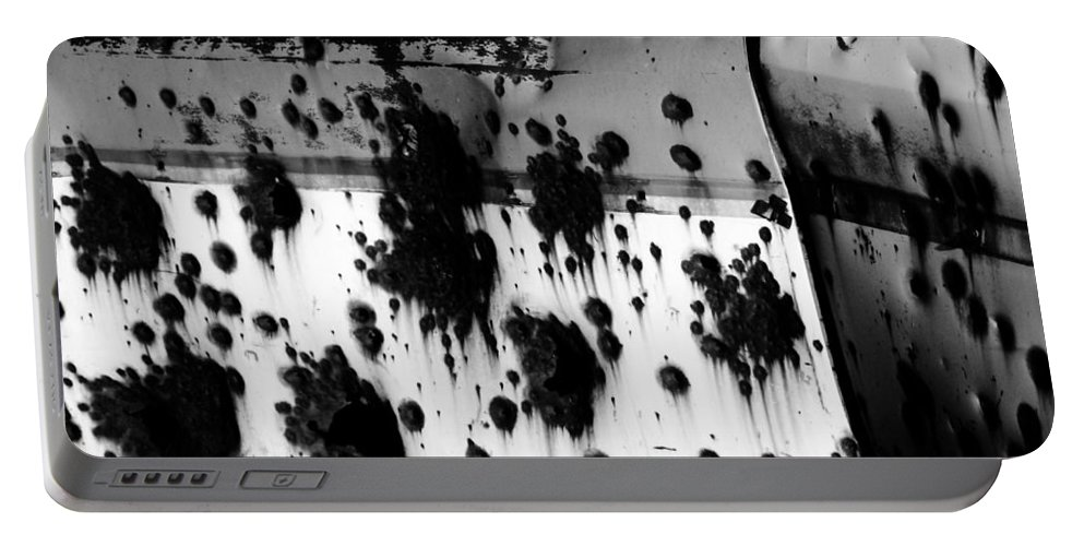 Black Portable Battery Charger featuring the photograph Wounds That Wont Heal by Jessica Shelton
