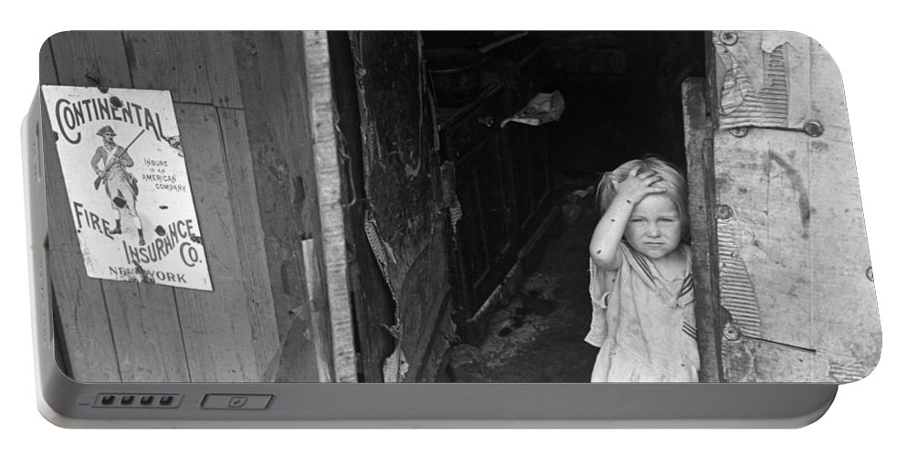 1938 Portable Battery Charger featuring the photograph Wpa Young Girl, 1938 by Granger