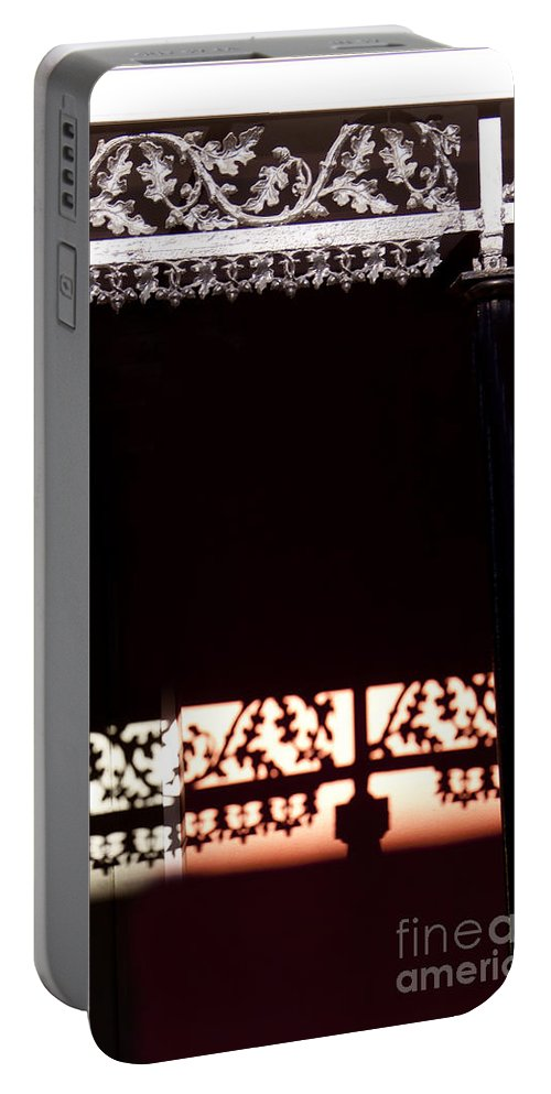 Wrought Iton Portable Battery Charger featuring the photograph Wrought Iron Shadows  #4385 by J L Woody Wooden