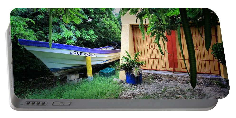 Boats And Ships Portable Battery Charger featuring the photograph Wuzzup Amigo by Robert McCubbin