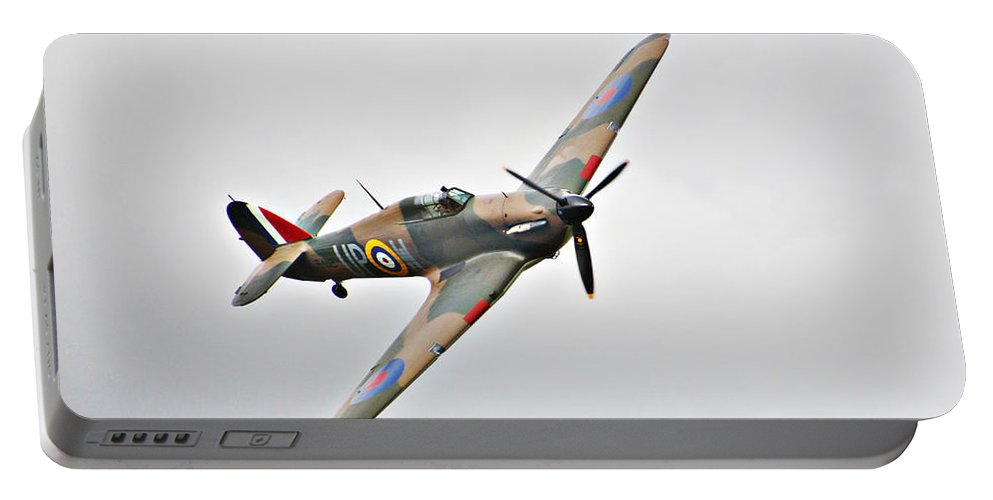 Plane Portable Battery Charger featuring the photograph Wwii Fighter Plane The Hurricane by Tom Conway