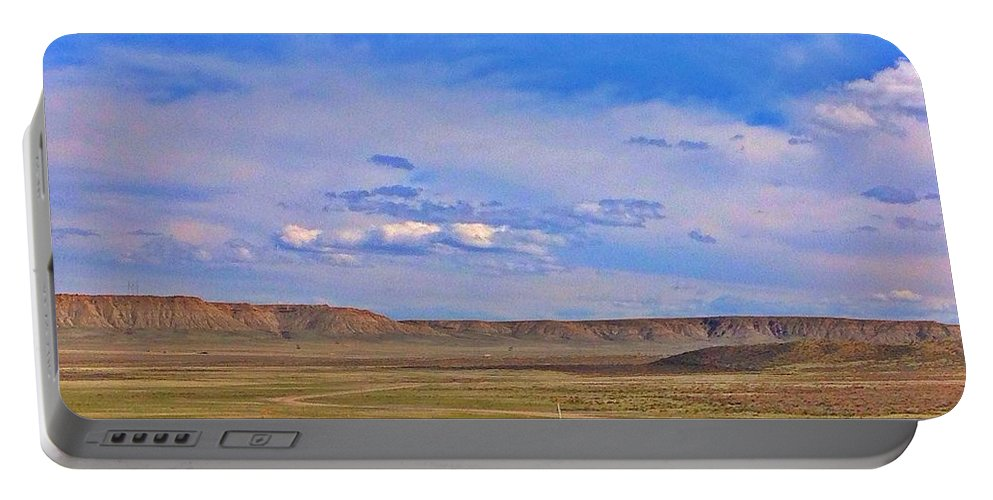 Landscape Portable Battery Charger featuring the photograph Wyoming Spring by Sarah Jane Thompson