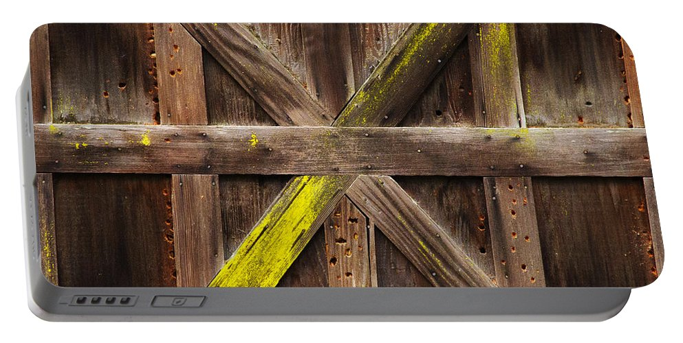 Winter Storage Portable Battery Charger featuring the photograph X Marks The Spot by Guy Shultz