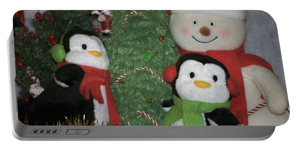 Snowman Portable Battery Charger featuring the photograph Xmas Buddies by Thomas Woolworth