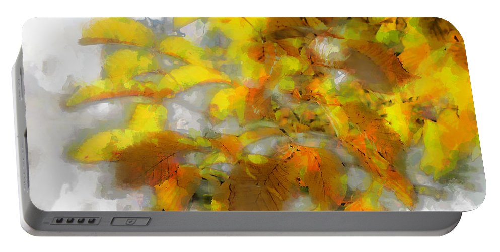 Photo Portable Battery Charger featuring the photograph Yellow Autumn by Jutta Maria Pusl