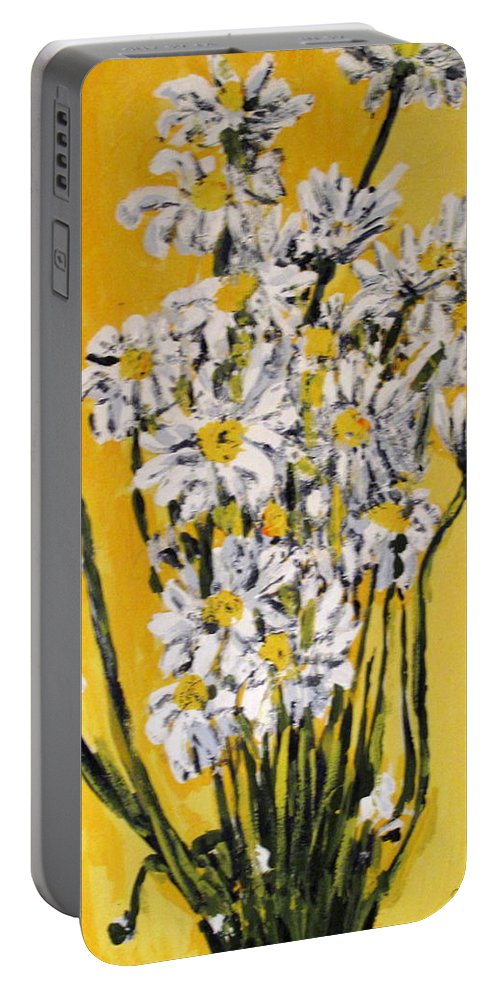 Daisy Portable Battery Charger featuring the painting Yellow by Ian MacDonald