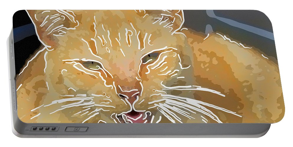 Kitty Portable Battery Charger featuring the photograph Yellow Kitty by Alice Gipson