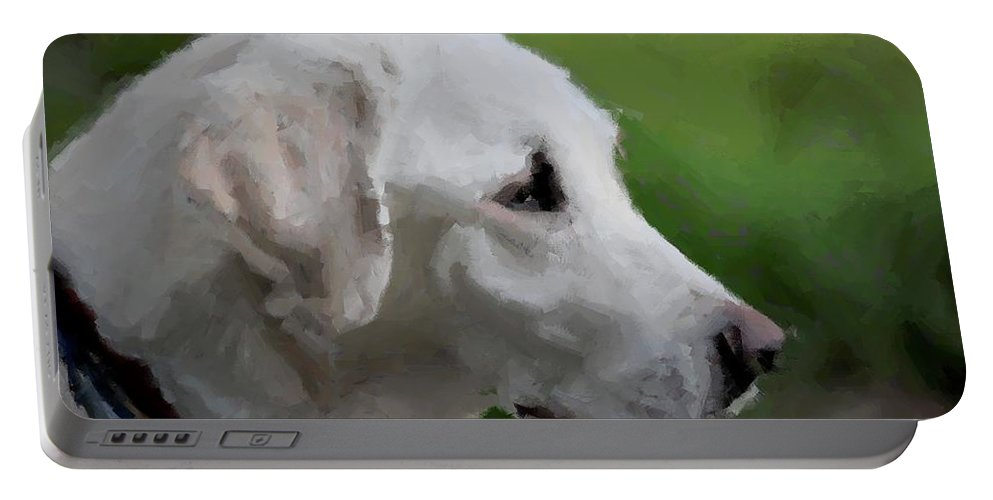 Labrador Retriever Portable Battery Charger featuring the photograph Yellow Lab by Terry DeLuco