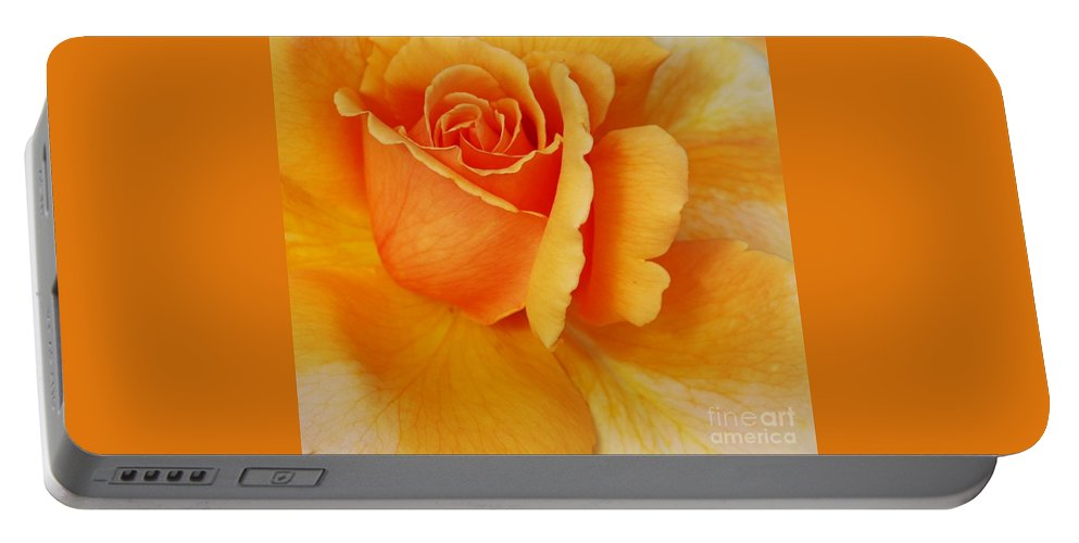Yellow Portable Battery Charger featuring the photograph Yellow Rose by Kathleen Struckle