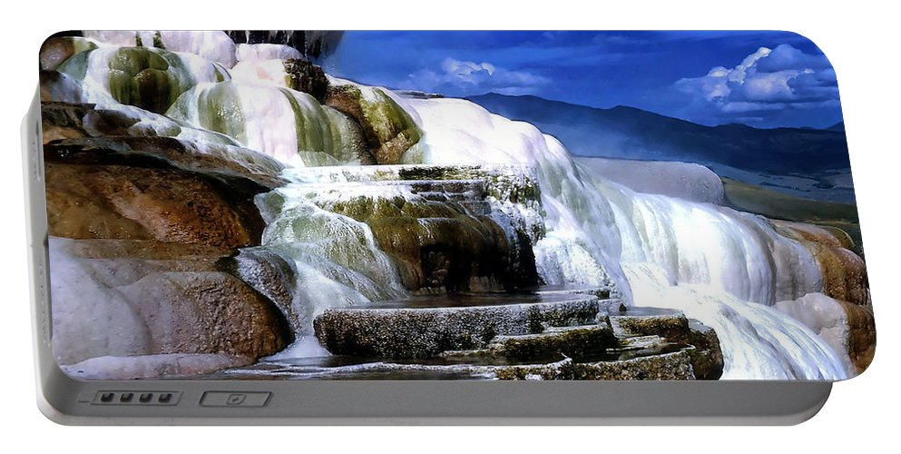 America Portable Battery Charger featuring the photograph Yellowstone 8 by Ingrid Smith-Johnsen