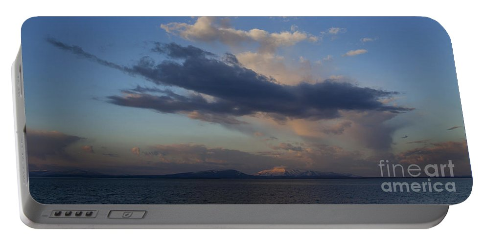 Yellowstone Lake Portable Battery Charger featuring the photograph Yellowstone Lake  #1876 by J L Woody Wooden