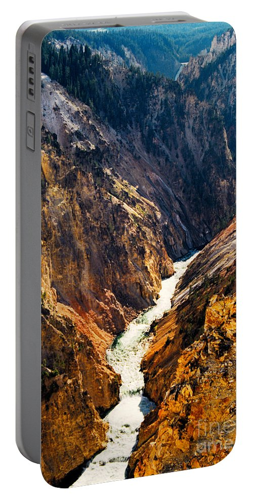 Yellowstone Portable Battery Charger featuring the photograph Yellowstone River by Kathy McClure