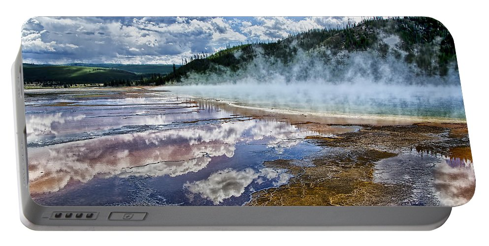 Yellowstone National Park Portable Battery Charger featuring the photograph Yellowstone - Springs by Jon Berghoff
