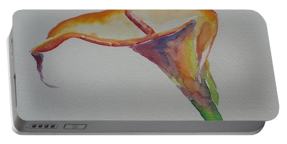 Calla Lily Portable Battery Charger featuring the painting Yemanya by Shannon Grissom