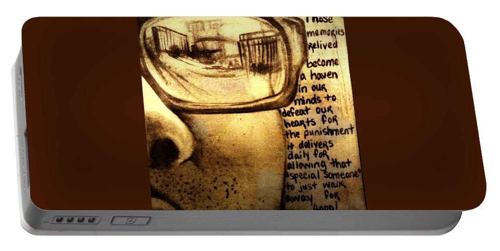 Art Portable Battery Charger featuring the photograph Yesterday by Artist RiA