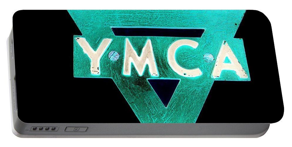 Ymca Portable Battery Charger featuring the photograph Ymca by Ed Weidman