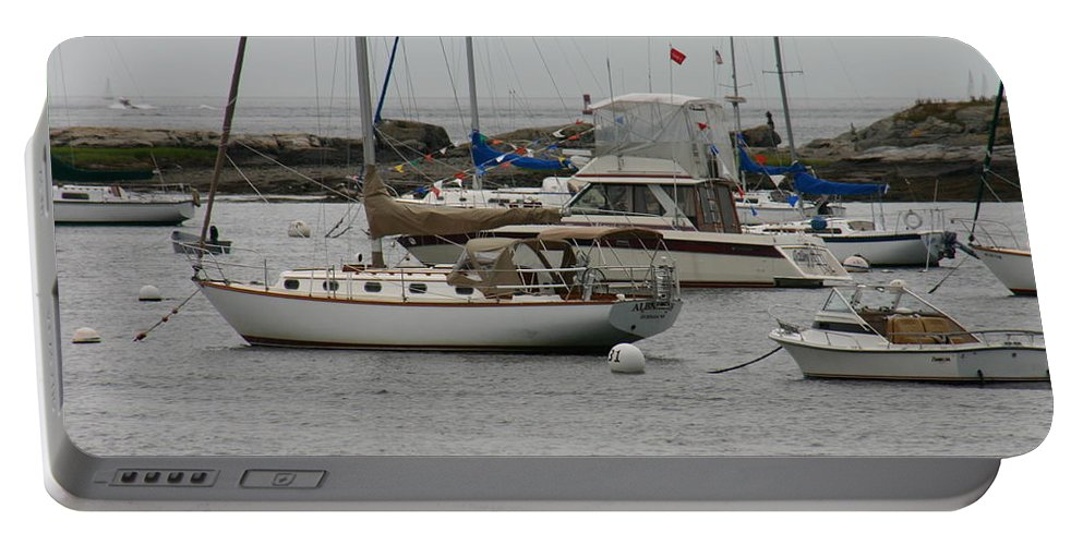 York Harbor Portable Battery Charger featuring the photograph York Harbor Maine by Denyse Duhaime