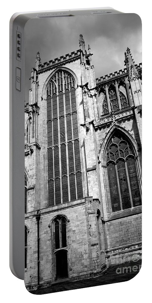 Abbey Portable Battery Charger featuring the photograph York Minster by Deborah Benbrook