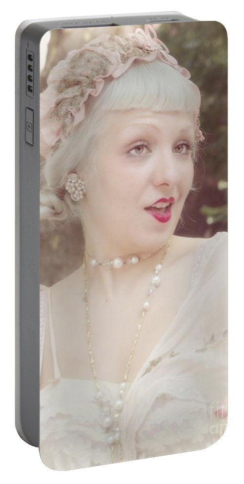 Gossip Portable Battery Charger featuring the photograph You Don't Say by Lilliana Mendez
