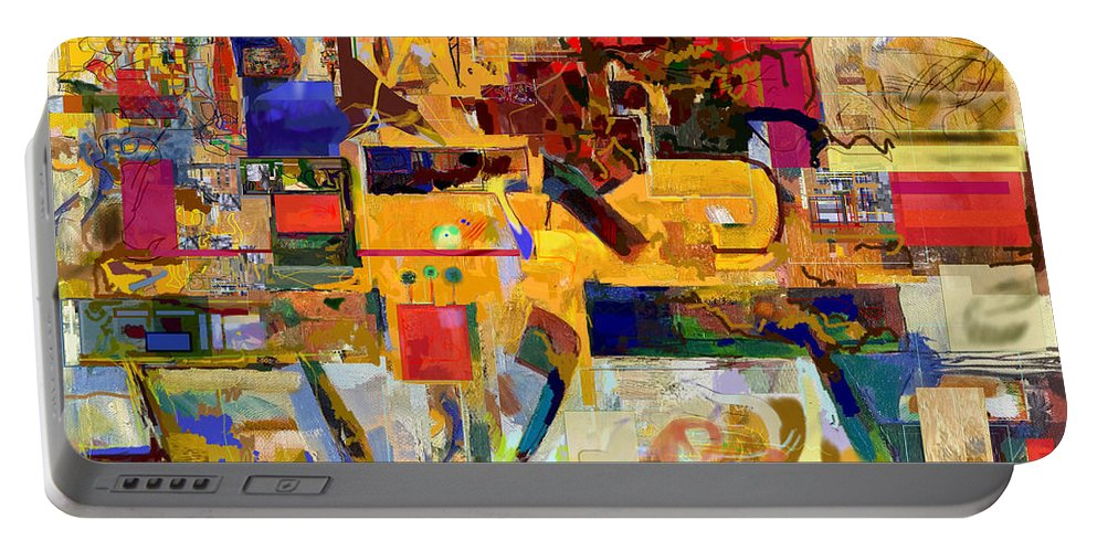 Torah Portable Battery Charger featuring the digital art You Graciously Endow Man With Wisdom 16f by David Baruch Wolk