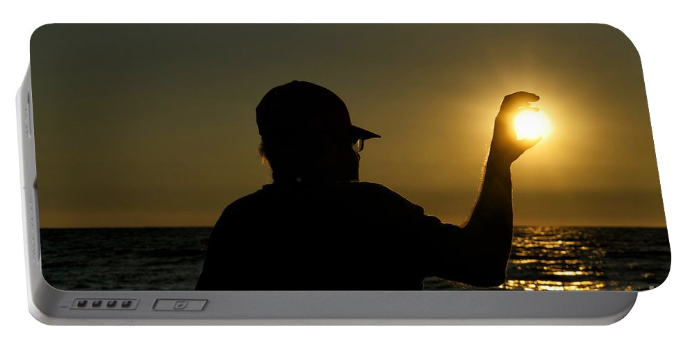 Lake Michigan Portable Battery Charger featuring the photograph You Make My Life Okay by Thomas Woolworth