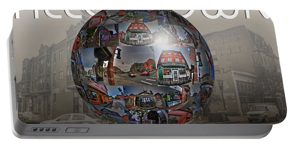 Allentown Portable Battery Charger featuring the photograph You'll Have A Ball In Allentown by Michael Frank Jr