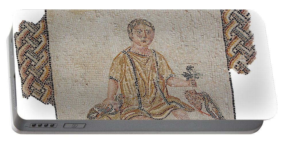 Mosaic Portable Battery Charger featuring the photograph Young Boy by Paul Fell