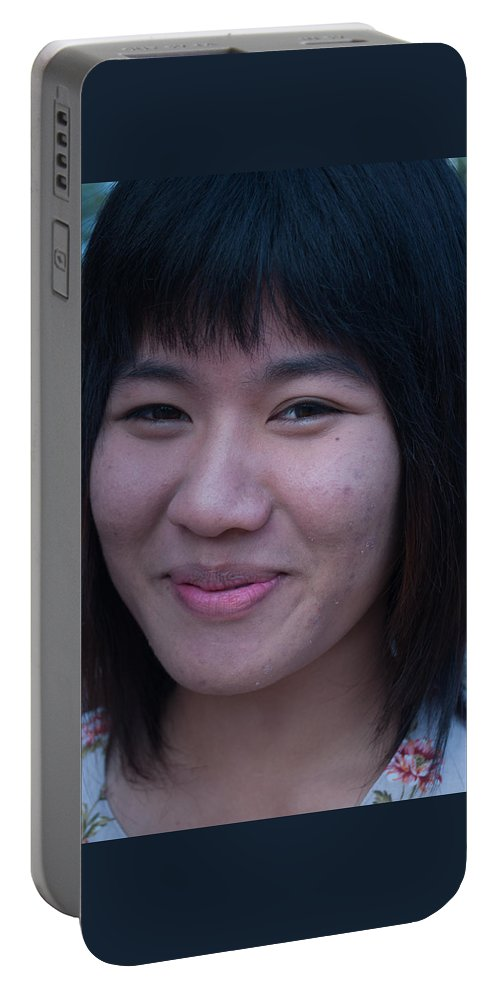 Chiang Mai Portable Battery Charger featuring the photograph Young Thai Girl by Jill Mitchell
