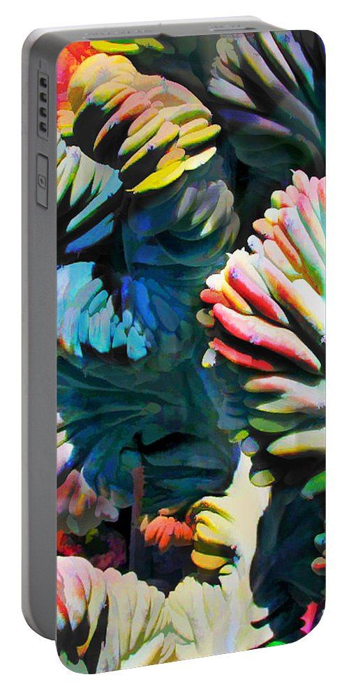 Cactus Portable Battery Charger featuring the painting Your Brain As Cactus by Elaine Plesser