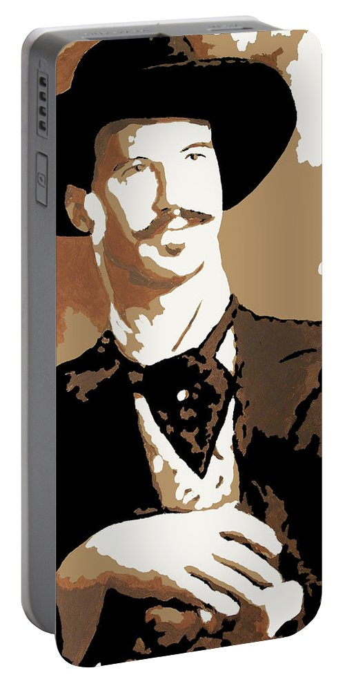 Film Portable Battery Charger featuring the painting Your Huckleberry by Dale Loos Jr