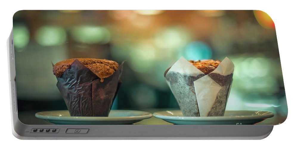 Cupcake Portable Battery Charger featuring the photograph Your Sweetness Is My Weakness by Evelina Kremsdorf