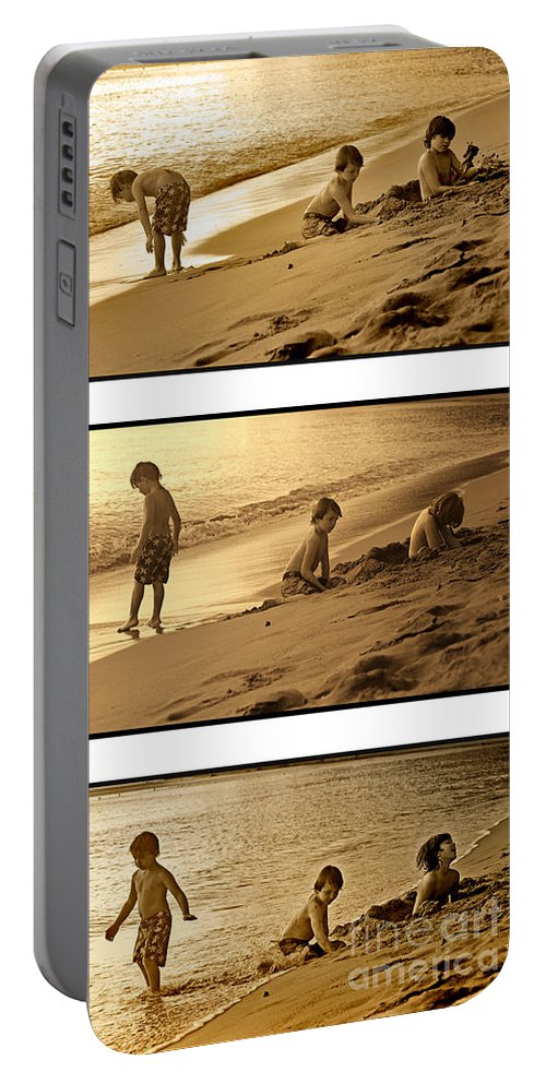 Youth Portable Battery Charger featuring the photograph Youth Tryptich by Madeline Ellis