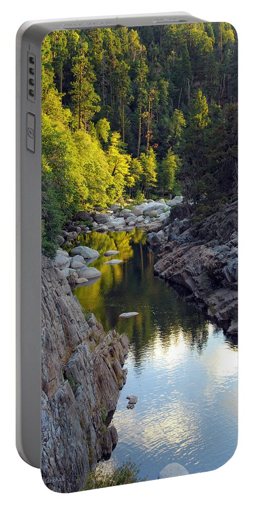 Yuba River Portable Battery Charger featuring the photograph Yuba River Twilight by Donna Blackhall