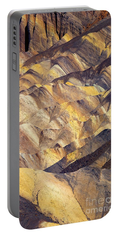 Zabriskie Point Portable Battery Charger featuring the photograph Zabriskie Color by Mike Dawson