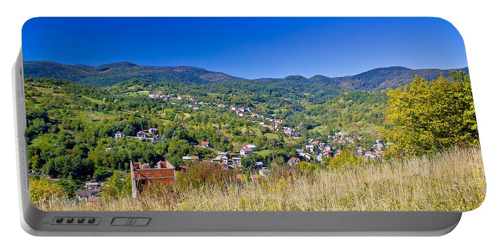Croatia Portable Battery Charger featuring the photograph Zagreb Hillside Green Zone Nature by Brch Photography