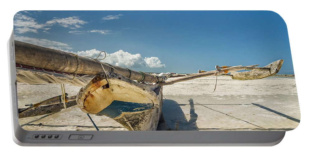 3scape Portable Battery Charger featuring the photograph Zanzibar Outrigger by Adam Romanowicz