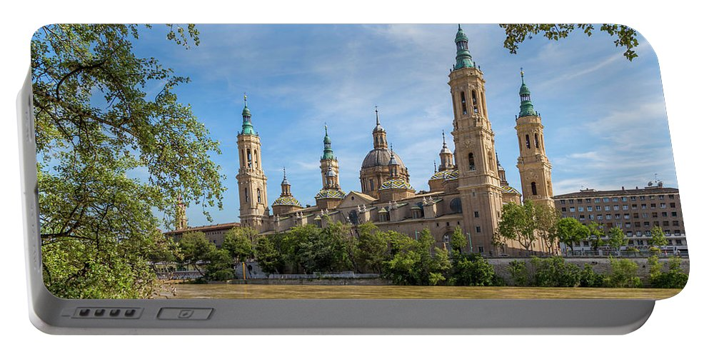 Photography Portable Battery Charger featuring the photograph Zaragoza, Zaragoza Province, Aragon by Panoramic Images
