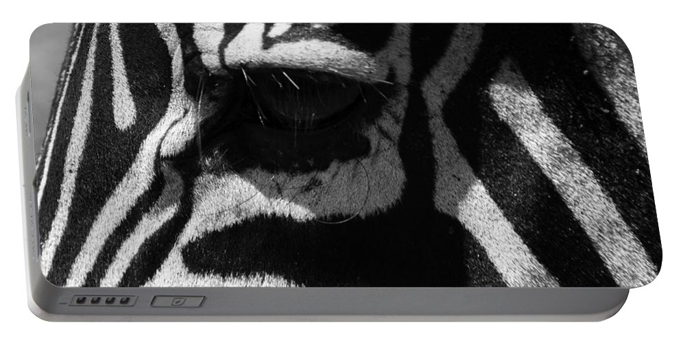 Africa Portable Battery Charger featuring the photograph Zebra Eye by Aidan Moran