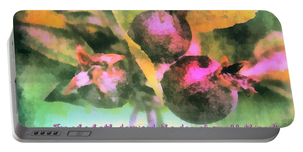 Jesus Portable Battery Charger featuring the digital art Zechariah 4 10 by Michelle Greene Wheeler