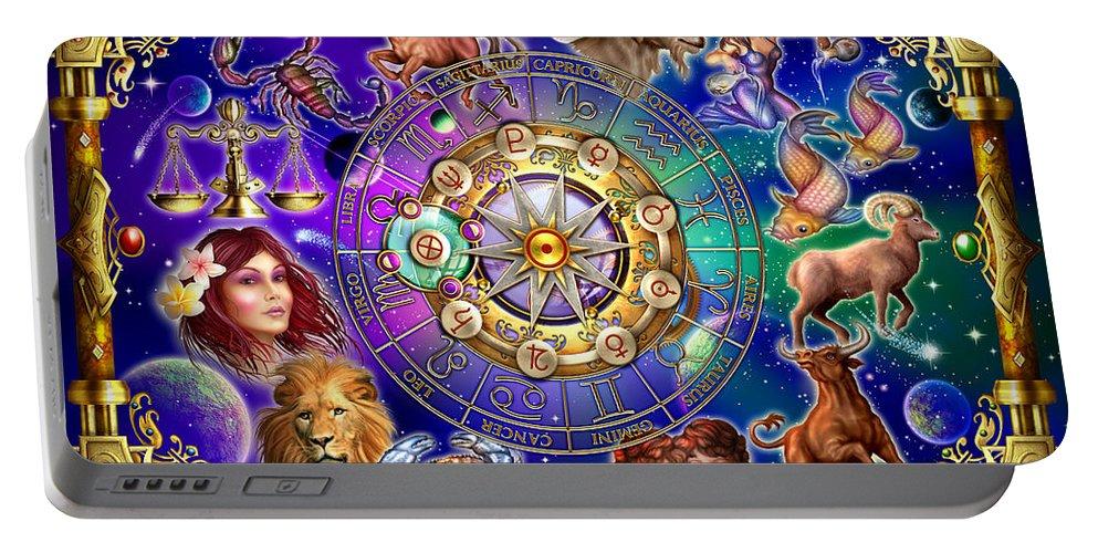 Fantasy Portable Battery Charger featuring the digital art Zodiac by Ciro Marchetti