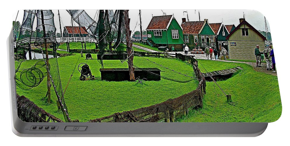 Zuiderzee Open Air Musuem In Enkhuizen Portable Battery Charger featuring the photograph Zuiderzee Open Air Musuem In Enkhuizen-netherlands by Ruth Hager