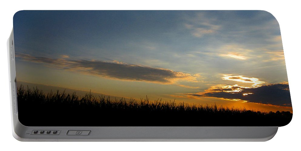 Cornfield Portable Battery Charger featuring the photograph Cornrise by Dan McCafferty