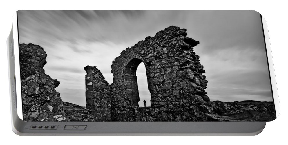 Church Portable Battery Charger featuring the photograph Llanddwyn Island Ruins by Beverly Cash